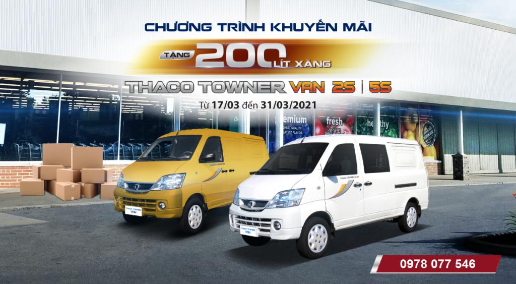 Ưu đãi 200 lít xăng khi mua xe tải Van 2 chỗ và 5 chỗ
