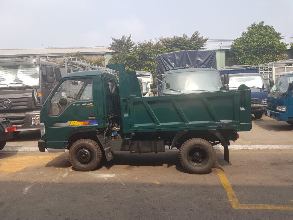 Giới thiệu xe tải ben Forland FD490 E4 mới tải trọng 2.49 tấn