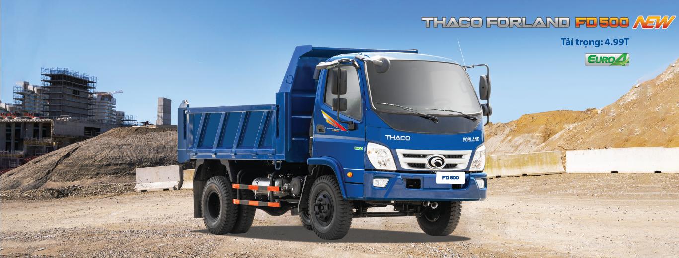 Giới thiệu xe ben Thaco Forland FD990 4 khối tải trọng 4.99 tấn